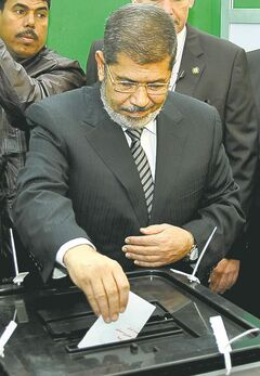 Egypt President Mohammed Morsi is looking into opposition leaders.