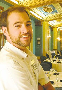 Deon Klatt, guest services at Banff Springs Hotel, leads historical tours.