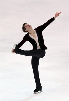 USA's Richard Dornbush performs during the men short program of the ISU Four Continents Figure Skating Championships in Taipei, Taiwan, Wednesday, Jan. 22, 2014. (AP Photo/Chiang Ying-ying)
