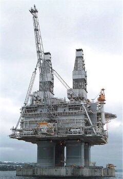 The Hibernia platform stands tall above the waters of Bull Arm, Trinity Bay, Nfld. Well-paid jobs are luring more women to the rigs and vessels that draw oil from the ocean floor more than 300 kilometres east of St. John's, N.L., but life offshore is still very much a man's world. THE CANADIAN PRESS/Jonathan Hayward