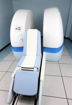 An Upright Open MRI machine is shown in this undated handout image. Lying still won't do it in this MRI machine, which allows people to sit, stand and squat so researchers can see their joints in action to possibly prevent hip osteoarthritis decades later. Biomedical engineer and University of British Columbia orthopedics professor David Wilson said there are about a dozen such Italian-made machines in the world but the one at Vancouver General Hospital is solely being used for research purposes. THE CANADIAN PRESS/HO - Centre For Hip Health and Mobility
