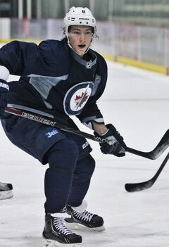 Alex Burmistrov at the MTS Iceplex this morning.