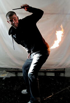 Winnipeg Illusionist  Darcy Oake in his  work studio.