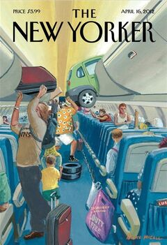 The cover of the April 16, 2012, edition of The New Yorker is shown in a handout photo. Saskatoon has arrived in the Big Apple.The Prairie city is making a cameo appearance on the April 16 cover of the New Yorker magazine. THE CANADIAN PRESS/HO
