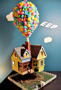 Up and away with this Peeps artwork.