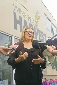 Paula Havixbeck got brownie points from Winnipeg Harvest's David Northcott for focusing on the city's hungry.