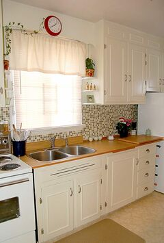Connie Oliver absolutely loves the way the cabinets look and the project only cost around $55.