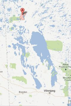 Snow Lake is 700 kilometres northwest of Winnipeg.