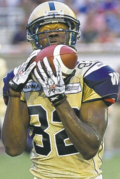 Winnipeg Blue Bombers' dependable slotback Terrence Edwards.