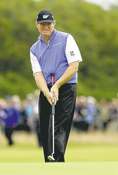 Ernie Els used a belly putter to win the British Open last year.