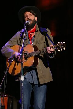 "FILE - This Oct. 20, 2012 photo shows Ray LaMontagne performing at the Bridge School Benefit Concert at the Shoreline Amphitheatre in Mountain View, Calif. LaMontagne, known for his acoustical ballads, let the songs for his new album, ""Supernova,"" released on Tuesday, April 29, 2014, lead him to a whole new sonic palate reminiscent of 1960s psychedelic rock. (Photo by Barry Brecheisen/Invision/AP)"