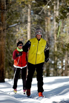 Cross-country skiing is a mainstay of Devil's Thumb.
