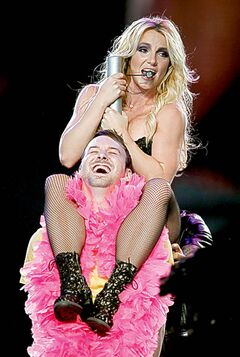 Britney Spears performs at the MTS Centre Monday night.