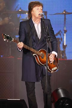 Paul McCartney performs in Winnipeg Aug. 12, 2013.