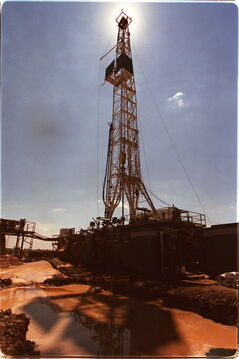 A drilling rig near Pierson, Man.