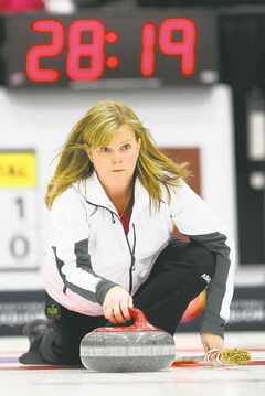 Skip Barb Spencer was right on target during her 6-2 triumph over Dauphin's Lisa Menard.