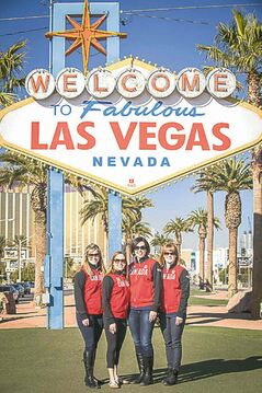 Winnipeg's Jennifer Jones and her Sochi-bound team are kicking back in Sin City between events.