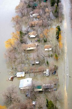 This spring's flood situation is similar to 2009, when ice jams caused the flooding of Breezy Point.