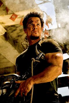 This photo released by Paramount Pictures shows Mark Wahlberg as Cade Yeager in