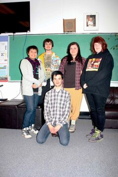 Clockwise from left, Skitz team members Autumn Hotonani, Joe Rauliuk, Iris Rauliuk, Melody Pendree, and Dagen Perrott are shown.