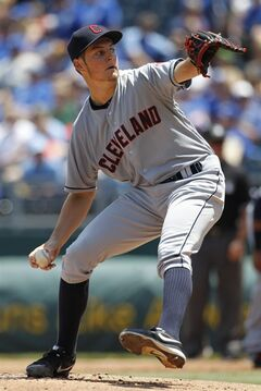 Cleveland Indians pitcher Trevor Bauer throws in the first inning of a baseball game against the Kansas City Royals at Kauffman Stadium in Kansas City, Mo., Wednesday, June 11, 2014. (AP Photo/Colin E. Braley)