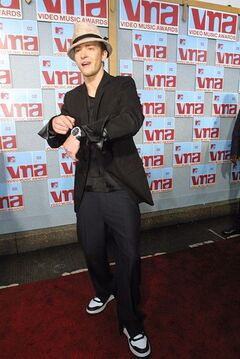 FILE - This Aug. 29, 2002 file photo shows Justin Timberlake at the MTV Video Music Awards at New York's Radio City Music Hall. (AP Photo/Tina Fineberg, File)