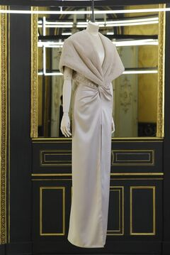 A creation for Givenchy's Haute Couture Fall-Winter 2013 collection is displayed in Paris, Wednesday July 4, 2012. (AP Photo/Jacques Brinon)