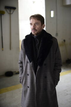 This image released by FX shows Billy Bob Thornton as Lorne Malvo in a scene from