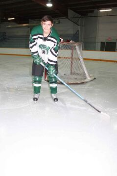 Transcona Collegiate Institute Titans captain Alex Jepsen is shown before practice at Ed Golding Arena on Feb. 4.