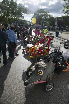 A soapbox derby is part of the entertainment at Manyfest on Sunday, Sept. 8.