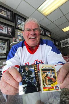 Joe Daley has made his name in sports memorabilia and in hockey ­— and he has the cards to prove it.
