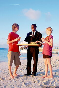 Fruit smoothes on the beach at sunset hand delivered by the butler - it just can't get any better than that. At the Beaches Resort in the Turks and Caicos its always the Perfect Paradise.