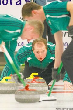 Sean Grassie becomes the first Manitoba skip to lose in the MCA Bonspiel championship match to a non-Manitoba team since 1921.