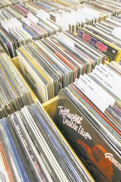 Ninety-eight per cent of the records at the Winnipeg Record and Tape Co. are original pressings. The other two per cent or re-issues in the funk and disco sections.