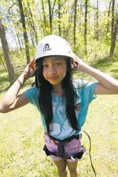 Tyndall Park Community School  student Juliana  Valdoria at summer camp. She's ambitiously preparing for Grade 6.