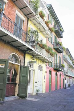 Colourful Creole apartments in the French Quarter.