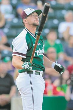 Craig Maddox of the Gary SouthShore Railcats popped 10 taters to win the home-run derby Monday night.
