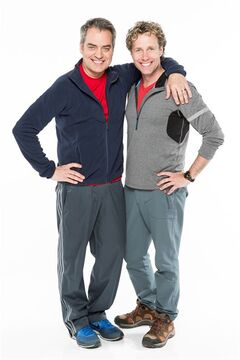 Rex Harrington and Bob Hope, participants in the Amazing Race Canada, are pictured in a recent handout photo. THE CANADIAN PRESS/HO, CTV