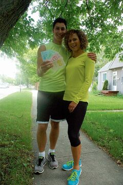 East Kildonan residents Cormac and Nicole Foster, shown with clue cards Cormac made as a child, participated in the upcoming season of The Amazing Race Canada.