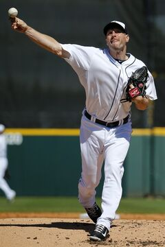 Detroit Tigers starting pitcher Max Scherzer throws during the second inning of an exhibition spring training baseball game against the New York Yankees in Lakeland, Fla., Friday, Feb. 28, 2014. (AP Photo/Gene J. Puskar)