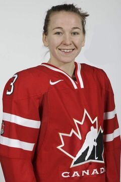 Jocelyne Larocque is one of three Manitobans heading to Canada's national women's hockey team's winter camp.