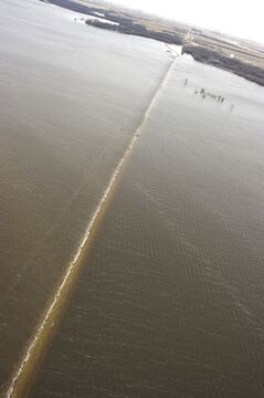 A flooded road near Melita is seen on April 21 in this aerial photo provided by the province.