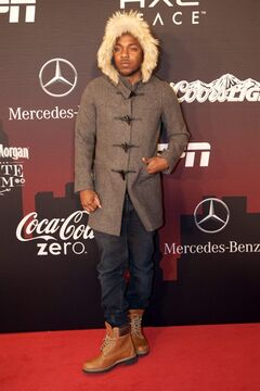 Kendrick Lamar attends at ESPN The Party, on Friday, Jan., 31, 2014 in New York. (Photo by Scott Roth/Invision/AP)