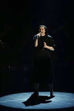 In this May 28, 2014 photo Sister Cristina Scuccia performs during the Italian version of