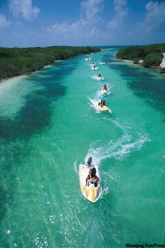 Take a seadoo tour of the lagoon or other waterways in and around Cancun to see another side to this beach paradise.