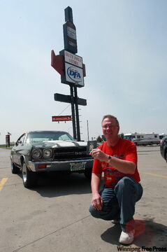 New regulations now apply to crossing the Canada U.S. border . Winnipegger Cliff Meder poses with his passport and 1970 Chevelle SS. Meder travels to the U.S. regularly to car shows.