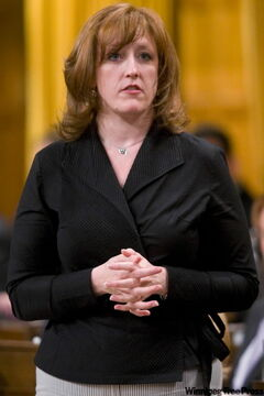 Minister of Natural Resources Lisa Raitt responds to a question during Question Period in the House of Commons on Parliament Hill in Ottawa.