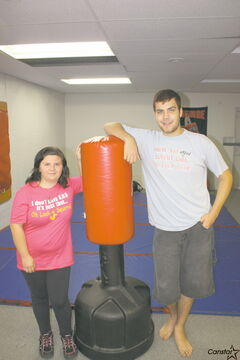 Kassandra Johnson and John Hokanson-Gaudreau at the Underground Gym last week.