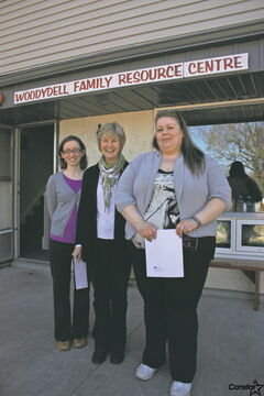 (From left) Sarah Cooper, Maureen Barchyn, and Tammy Wilson at the launch of the new report last week at Woodydell.