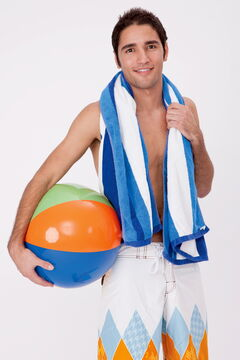 July 24 -- If you don't have a proper patch for your beach ball, try superglue and tuck tape. (PHOTO BY METRO CREATIVE) METRO